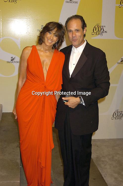 Donna Karan and Richard Baskins..at the 2005 CFDA Fashion Awards on June 6, 2005 at ..the New York Public Library. ..Photo by Robin Platzer, Twin Images