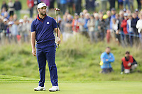 Jon Rahm (Team Europe) on the 5th during the friday fourballs at the Ryder Cup, Le Golf National, Iles-de-France, France. 27/09/2018.<br /> Picture Fran Caffrey / Golffile.ie<br /> <br /> All photo usage must carry mandatory copyright credit (© Golffile | Fran Caffrey)