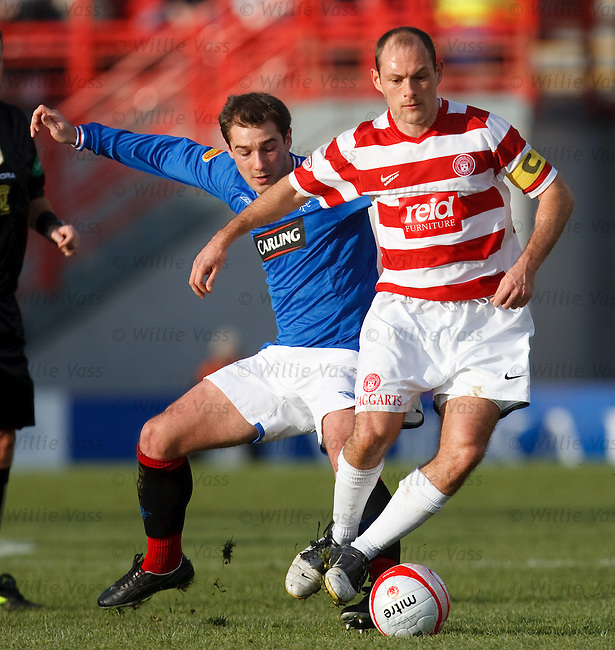 Kevin Thomson tackles Alex Neil