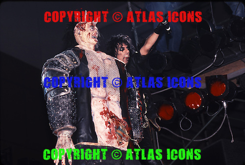 Alice Cooper; Live, 1987.Photo Credit: Eddie Malluk/Atlas Icons.com