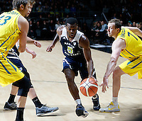 July 12, 2016: KADEEM ALLEN (5) of the Arizona Wildcats dribbles the ball during game 1 of the Australian Boomers Farewell Series between the Australian Boomers and the American PAC-12 All-Stars at Hisense Arena in Melbourne, Australia. Sydney Low/AsteriskImages.com