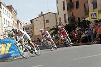 Cheng Ji leading the gruop during the stage of La Vuelta 2012 between Logroño and Logroño.August 22,2012. (ALTERPHOTOS/Acero) /NortePhoto.com<br /> <br /> **SOLO*VENTA*EN*MEXICO**<br /> **CREDITO*OBLIGATORIO**<br /> *No*Venta*A*Terceros*<br /> *No*Sale*So*third*<br /> *** No Se Permite Hacer Archivo**<br /> *No*Sale*So*third*
