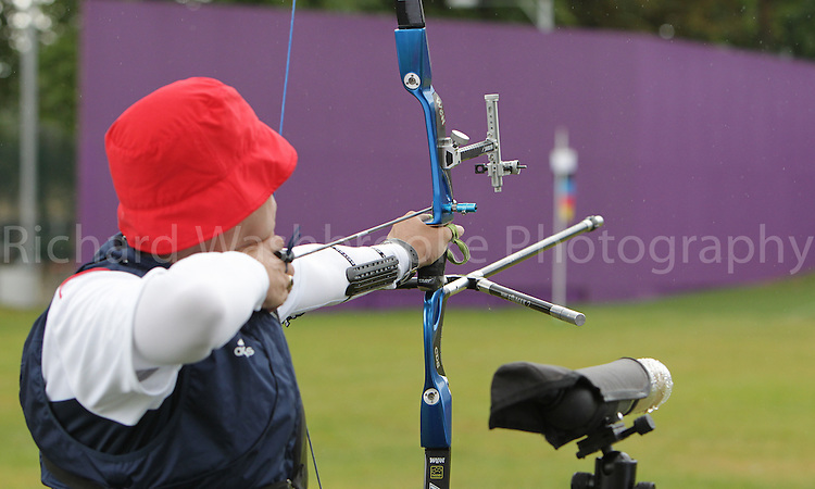 Paralympics London 2012 - ParalympicsGB - Archery Mens Individual Recurve - Standing  30th August 2012.  .Murray Elliot, competing in the mens Archery Individual Recurve - Standing Heats at the Paralympic Games in London. Photo: Richard Washbrooke/ParalympicsGB