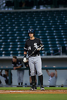 AZL White Sox designated hitter Sam Abbott (24) at bat against the AZL Cubs on August 13, 2017 at Sloan Park in Mesa, Arizona. AZL White Sox defeated the AZL Cubs 7-4. (Zachary Lucy/Four Seam Images)