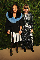 NEW YORK, NY - NOVEMBER 6: Diane von Furstenberg and Anna Wintour at the 14th Annual CFDA Vogue Fashion Fund Gala at Weylin in Brooklyn, New York City on November 6, 2017. <br /> CAP/MPI/JP<br /> &copy;JP/MPI/Capital Pictures