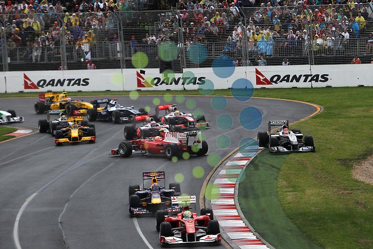 F1 GP of Australia, Melbourne 26. - 28. March 2010.F1 Race Start..Hasan Bratic;Koblenzerstr.3;56412 Nentershausen;Tel.:0172-2733357;.hb-press-agency@t-online.de;http://www.uptodate-bildagentur.de;.Veroeffentlichung gem. AGB - Stand 09.2006; Foto ist Honorarpflichtig zzgl. 7% Ust.;Hasan Bratic,Koblenzerstr.3,Postfach 1117,56412 Nentershausen; Steuer-Nr.: 30 807 6032 6;Finanzamt Montabaur;  Nassauische Sparkasse Nentershausen; Konto 828017896, BLZ 510 500 15;SWIFT-BIC: NASS DE 55;IBAN: DE69 5105 0015 0828 0178 96; Belegexemplar erforderlich!..