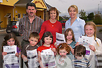 VOTE FOR US: Busy campaigning for the Better Ireland Awards at Milltown Childcare Centre on Friday were, front l-r: Niamh O'Sullivan, Adam Clarke, Ciara O'Mahony, Grace O'Sullivan, Grace O'Mahony, Oisi?n Spring, Leah Clarke. Back l-r: Cllr. Michael O'Shea, Anne O'Shea, Katie Clarke (Manager).    Copyright Kerry's Eye 2008