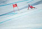 PyeongChang 13/3/2018 - Mel Pemble skis in the super-G portion of the super combined at the Jeongseon Alpine Centre during the 2018 Winter Paralympic Games in Pyeongchang, Korea. Photo: Dave Holland/Canadian Paralympic Committee