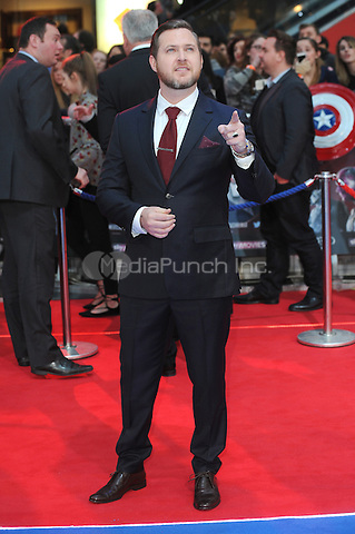 LONDON, ENGLAND - APRIL 26: A.J. Buckley attends the European premiere of Captain America: Civil War at Westfield Shopping Centre on April 26, 2016 in London, England.<br /> CAP/BEL<br /> &copy;BEL/Capital Pictures /MediaPunch ***NORTH AMERICAN AND SOUTH AMERICAN SALES ONLY***