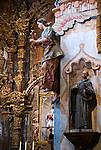 Interior detail, San Xavier del Bac Mission, Tuscon, Arizona