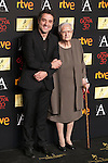 Daniel Guzman and Antonia Guzman attend the 2016 Goya Nominee party in Madrid, Spain. January 26, 2015. (ALTERPHOTOS/Victor Blanco)