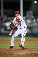 Harrisburg Senators relief pitcher Erick Fedde (22) delivers a pitch during a game against the Bowie Baysox on May 16, 2017 at FNB Field in Harrisburg, Pennsylvania.  Bowie defeated Harrisburg 6-4.  (Mike Janes/Four Seam Images)