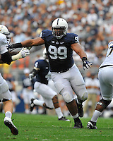 06 September 2014:  Penn State DT Austin Johnson (99). The Penn State Nittany Lions defeated the Akron Zips 21-3 at Beaver Stadium in State College, PA.