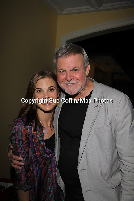 "Gina Tognoni Guidng Light ""Dinah Marler"" & One Life To Live ""Kelly Cramer"" poses with Ron Raines at the 10th Annual Daytime Stars and Strikes Charity Event to benefit the American Cancer Society on October 13, 2013 at Bowlmor Lanes, New York City, New York.  (Photo by Sue Coflin/Max Photos)"