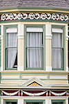 USA, CA, San Francisco, Alamo Square, Painted Ladies Victorian House Detail