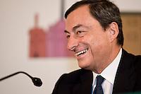 Roma, 29 Ottobre, 2009. Mario Draghi, President of the European Central Bank. Mario Draghi, Presidente della Banca centrale europea.