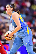 Washington, DC - July 13, 2018: Chicago Sky center Stefanie Dolson (31) with the ball during game between the Washington Mystics and Chicago Sky at the Capital One Arena in Washington, DC. The Mystics defeat the Sky 88-72 (Photo by Phil Peters/Media Images International)
