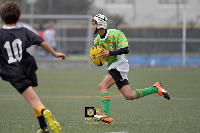 U13 Rugby - Sakai Rugby School ( Japan ) v Wellington College at Wellington College, Wellington, New Zealand on Friday 24 March 2017.<br /> Photo by Masanori Udagawa<br /> www.photowellington.photoshelter.com.