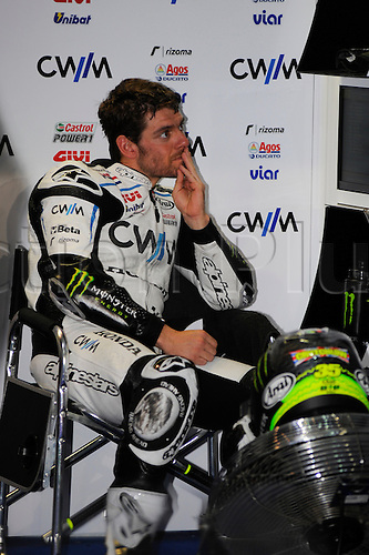 28.03.2015. Losail, Doha. MotoGP. Qatar Grand Prix Qualifying. Cal Crutchlow (CWM LCR Honda) during qualifying sessions