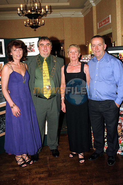 Linda Collins Emily Black and Pat Black with Mayor of Drogheda, Cllr. Sean Collins at the 40th anniversary of the Lourdes Brass Band and Majorettes.
