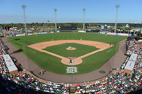 General view of a Detroit Tigers spring training game against the St. Louis Cardinals on March 3, 2014 at Joker Marchant Stadium in Lakeland, Florida.  Detroit defeated St. Louis 8-5.  (Mike Janes/Four Seam Images)