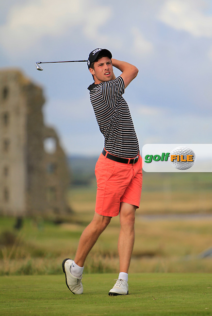 Alex Gleeson (Castle) on the 13th tee during the South of Ireland Amateur Open Championship 4th Round at Lahinch Golf Club  29th July 2013 <br />
