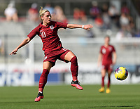 FRISCO, TX - MARCH 11: Jordan Nobbs #10 of England gains control of a loose ball during a game between England and Spain at Toyota Stadium on March 11, 2020 in Frisco, Texas.