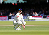 9th September 2017, Lords Cricket Ground, London, England; International test match series, third test, Day 3; England versus West Indies; Dawid Malan of England looks on after he fails to stop an edge