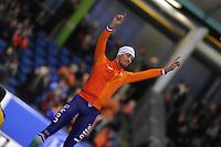 SCHAATSEN: HEERENVEEN: IJsstadion Thialf, 07-02-15, World Cup, Podium 1000m Men Division A, Kjeld Nuis (NED), ©foto Martin de Jong