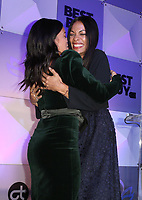 LOS ANGELES, CA - NOVEMBER 8: Gina Rodriguez, Rosario Dawson, at the Eva Longoria Foundation Dinner Gala honoring Zoe Saldana and Gina Rodriguez at The Four Seasons Beverly Hills in Los Angeles, California on November 8, 2018. Credit: Faye Sadou/MediaPunch