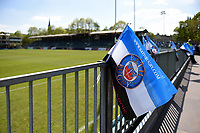 A general view of Bath Rugby flags at the Recreation Ground. Aviva Premiership match, between Bath Rugby and London Irish on May 5, 2018 at the Recreation Ground in Bath, England. Photo by: Patrick Khachfe / Onside Images