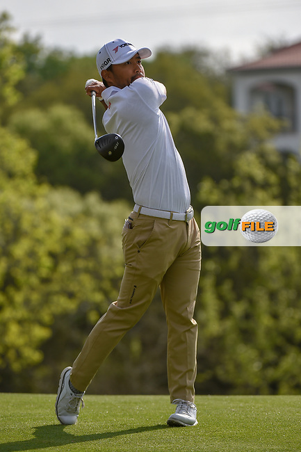 Satoshi Kodaira (JPN) watches his tee shot on 4 during day 2 of the WGC Dell Match Play, at the Austin Country Club, Austin, Texas, USA. 3/28/2019.<br /> Picture: Golffile   Ken Murray<br /> <br /> <br /> All photo usage must carry mandatory copyright credit (© Golffile   Ken Murray)