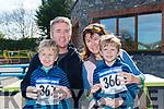 At the Glenflesk ag rite Run for the Bus in aid of Kerry Cancer support Group Health link Bus at  An Riocht AC Grounds Castleisland on Sunday were Adam Sinnott, Darren Sinnott, Berni Sinnott and Shane Sinnott