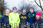 Attending the Tralee Parkrun's 3rd birthday run in the Tralee town park on Saturday morning last, l-r, Mary and Alan Longworth (Clonmel), JJ O'Connor (Lixnaw) David O'Connor (Camp) and Joan O'Connell (Lixnaw).
