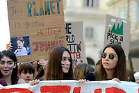 Roma, 24 Maggio 2019<br /> Migliaia di studentesse e studenti partecipano al Global Strike For Future, lo sciopero generale per il pianeta lanciato dalla 16enne Greta Thunberg diventata simbolo della lotta ai cambiamenti climatici
