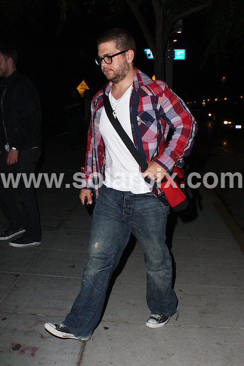 **ALL ROUND PICTURES FROM SOLARPIX.COM**.**WORLDWIDE SYNDICATION RIGHTS**.**NO PUBLICATION IN AUSTRALIA, NEW ZEALAND, DENMARK, GERMANY OR USA**.Jack Osbourne tries to wiggle through the swarm of paparazzi outside Crown Bar in West Hollywood Los Angeles California in the USA...JOB REF: 7394-LAP/JS       DATE: 17_09_08.**MUST CREDIT SOLARPIX.COM OR DOUBLE FEE WILL BE CHARGED* *UNDER NO CIRCUMSTANCES IS THIS IMAGE TO BE REPRODUCED FOR ANY ONLINE EDITION WITHOUT PRIOR PERMISSION*