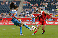 Bridgeview, IL - Saturday June 17, 2017: Christen Press, Meggie Dougherty Howard during a regular season National Women's Soccer League (NWSL) match between the Chicago Red Stars and the Washington Spirit at Toyota Park. The match ended in a 1-1 tie.