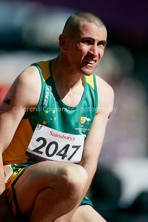 Australia's Tim Sullivan competes in the men's T38 200m heats at the London Paralympic Games, qualifying for the final - Athletics 7.9.12