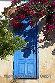 Tom Mackie, LANDSCAPES, LANDSCHAFTEN, PAISAJES, photos,+Blue Door & Bougainvillea, Galaxidi, Greece,blue, bougainvillaea, bougainvillea, digital, door, doors, EU, Europa, Europe, Eu+ropean, Greece, portrait, upright, vertical+++,GBTM060312-1,#l#, EVERYDAY
