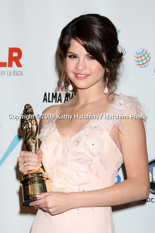 Selena Gomez.in the Press Room of the 2009 ALMA Awards.Royce Hall, UCLA.Los Angeles, CA.September 17, 2009.©2009 Kathy Hutchins / Hutchins Photo.