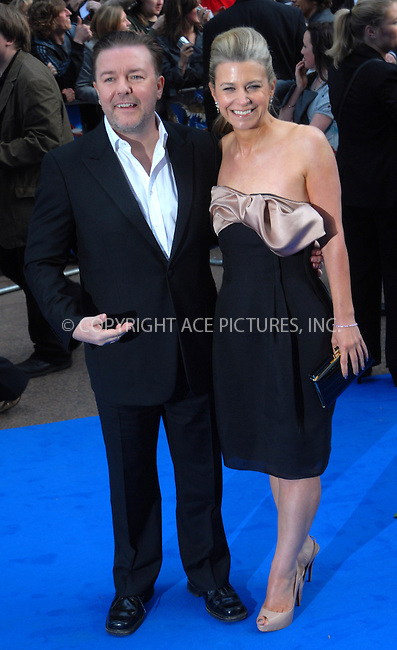 "WWW.ACEPIXS.COM . . . . .  ..... . . . . US SALES ONLY . . . . .....May 12 2009, London....Actor Ricky Gervais and Jane Fallon at the World Premiere of ""Night At The Museum 2"" held at the Empire Leicester Square on May 12 2009 in London ....Please byline: FAMOUS-ACE PICTURES... . . . .  ....Ace Pictures, Inc:  ..tel: (212) 243 8787 or (646) 769 0430..e-mail: info@acepixs.com..web: http://www.acepixs.com"
