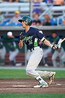 Vermont Lake Monsters right fielder Luke Persico (32) at bat during a game against the Auburn Doubledays on July 12, 2016 at Falcon Park in Auburn, New York.  Auburn defeated Vermont 3-1.  (Mike Janes/Four Seam Images)
