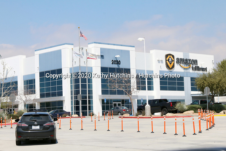 LOS ANGELES - APR 11:  Amazon Fulfillment Center Exterior at the Businesses Responding to COVID-19 at the Amazon Fulfillment Center on April 11, 2020 in San Bernardino, CA