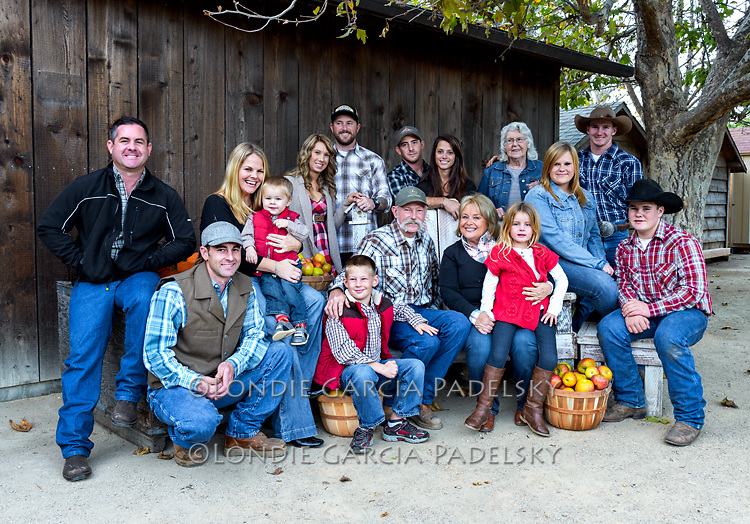 Debbie and Bruce Smith family at Avila Valley Barn, San Luis Obispo County, California