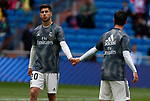 Real Madrid CF's Marco Asensio and Real Madrid CF's Isco Alarcon during La Liga match. April 06, 2019. (ALTERPHOTOS/Manu R.B.)