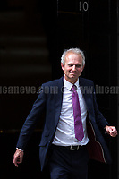 David Lidington MP (Lord Chancellor and Secretary of State for Justice).<br /> <br /> London, 12/06/2017. Today, Theresa May's reshuffled Cabinet met at 10 Downing Street after the General Election of the 8 June 2017. Philip Hammond MP - not present in the photos - was confirmed as Chancellor of the Exchequer. <br /> After 5 years of the Coalition Government (Conservatives &amp; Liberal Democrats) led by the Conservative Party leader David Cameron, and one year of David Cameron's Government (Who resigned after the Brexit victory at the EU Referendum held in 2016), British people voted in the following way: the Conservative Party gained 318 seats (42.4% - 13,667,213 votes &ndash; 12 seats less than 2015), Labour Party 262 seats (40,0% - 12,874,985 votes &ndash; 30 seats more then 2015); Scottish National Party, SNP 35 seats (3,0% - 977,569 votes &ndash; 21 seats less than 2015); Liberal Democrats 12 seats (7,4% - 2,371,772 votes &ndash; 4 seats more than 2015); Democratic Unionist Party 10 seats (0,9% - 292,316 votes &ndash; 2 seats more than 2015); Sinn Fein 7 seats (0,8% - 238,915 votes &ndash; 3 seats more than 2015); Plaid Cymru 4 seats (0,5% - 164,466 votes &ndash; 1 seat more than 2015); Green Party 1 seat (1,6% - 525,371votes &ndash; Same seat of 2015); UKIP 0 seat (1.8% - 593,852 votes); others 1 seat. <br /> The definitive turn out of the election was 68.7%, 2% higher than the 2015.<br /> <br /> For more info about the election result click here: http://bbc.in/2qVyNRd &amp; http://bit.ly/2s9ob51<br /> <br /> For more info about the Cabinet Ministers click here: https://goo.gl/wmRYRd