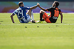 Timor (L) of  Club Deportivo Leganes and Dani Parejo of Valencia CF sit on the pitch during their La Liga match between Club Deportivo Leganes and Valencia CF at the Butarque Municipal Stadium on 25 September 2016 in Madrid, Spain. Photo by Diego Gonzalez Souto / Power Sport Images