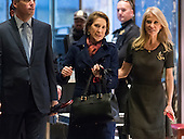 Former Republican presidential primary candidate Carly Fiorina is seen in the lobby of Trump Tower in New York, NY, USA upon her arrival on December 12, 2016. <br /> Credit: Albin Lohr-Jones / Pool via CNP