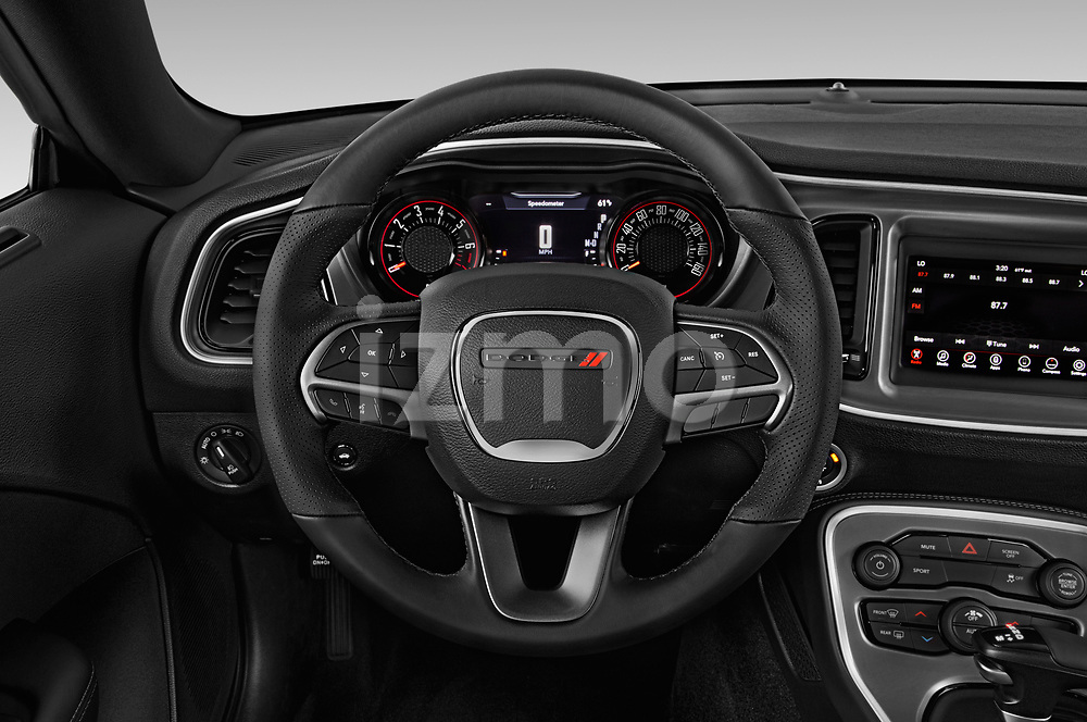Car pictures of steering wheel view of a 2019 Dodge challenger SXT 2 Door Coupe