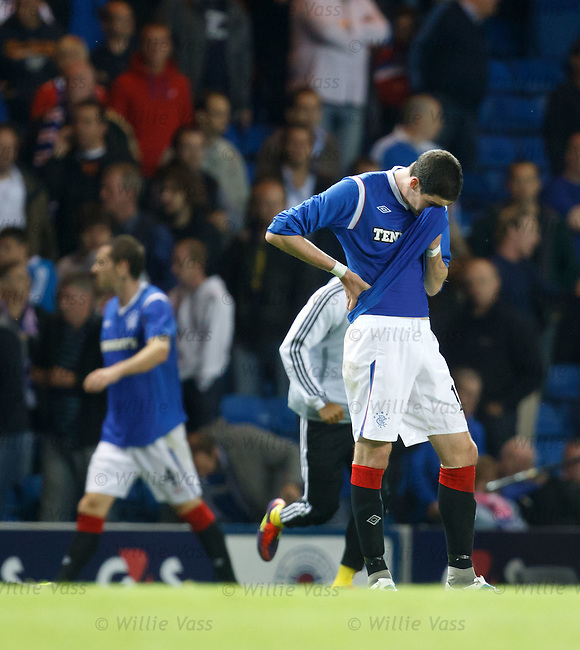 Rangers dejection Kyle Lafferty